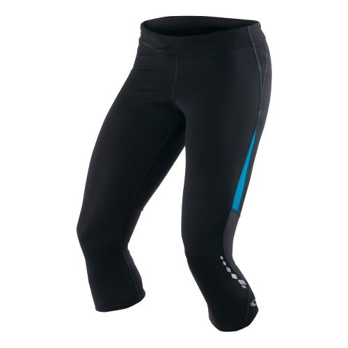 Womens Pearl Izumi Aurora Splice Knicker Fitted Tights - Black/Blue Jewel L