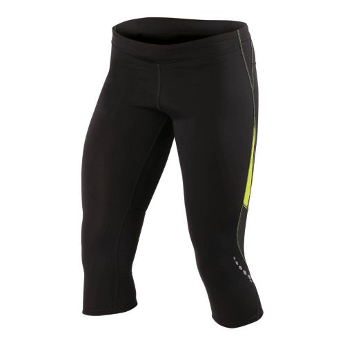 Womens Pearl Izumi Aurora Splice Knicker Fitted Tights - Black/Lime L