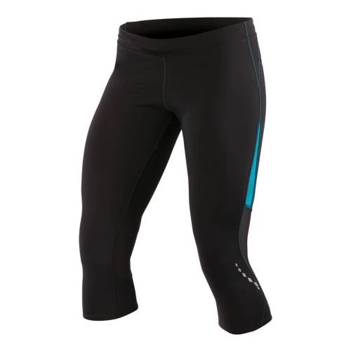Womens Pearl Izumi Aurora Splice Knicker Fitted Tights - Black/Peacock XS