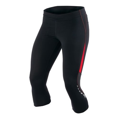 Womens Pearl Izumi Aurora Splice Knicker Fitted Tights - Black/True Red XL