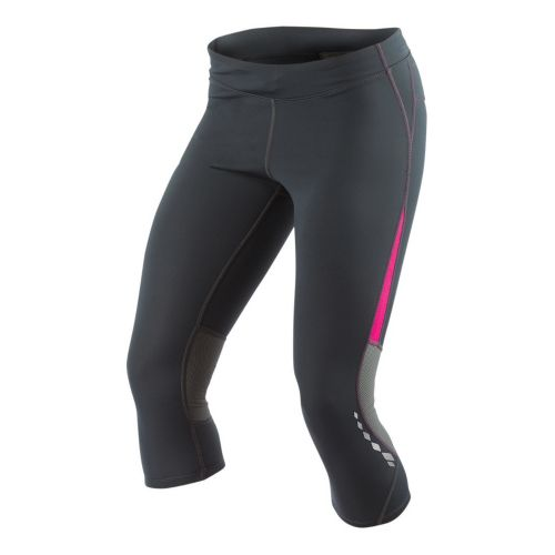 Womens Pearl Izumi Aurora Splice Knicker Fitted Tights - Shadow Grey/Pink Punch M