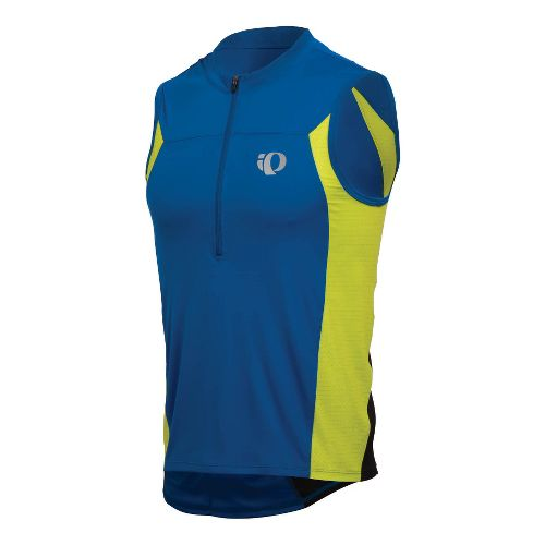 Mens Pearl Izumi SELECT Tri SL Jersey Sleeveless Technical Tops - True Blue/Lime S