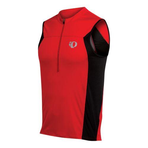 Mens Pearl Izumi SELECT Tri SL Jersey Sleeveless Technical Tops - True Red L