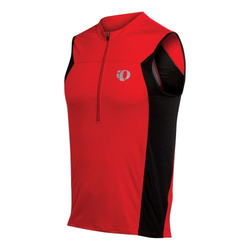 Mens Pearl Izumi SELECT Tri SL Jersey Sleeveless Technical Tops - True Red XL