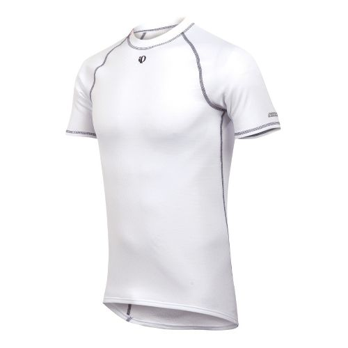 Mens Pearl Izumi Thermal SS Baselayer Short Sleeve Technical Tops - White S