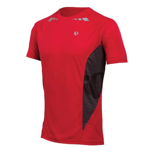 Mens Pearl Izumi Fly In-R-Cool Short Sleeve Technical Tops - True Red M