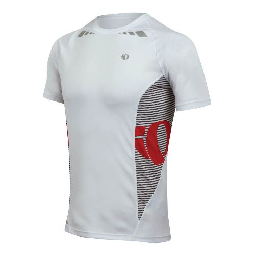 Mens Pearl Izumi Fly In-R-Cool Short Sleeve Technical Tops - White L