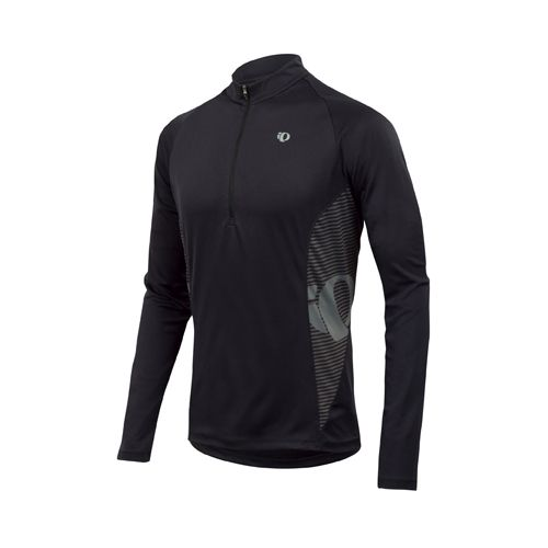 Mens Pearl Izumi Fly In-R-Cool Long Sleeve 1/2 Zip Technical Tops - Black L