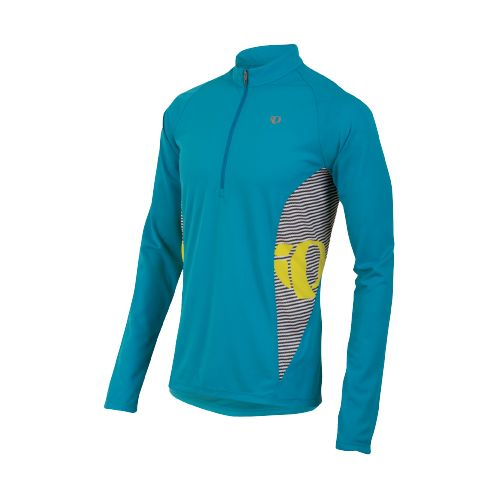 Mens Pearl Izumi Fly In-R-Cool Long Sleeve 1/2 Zip Technical Tops - Electric Blue L ...