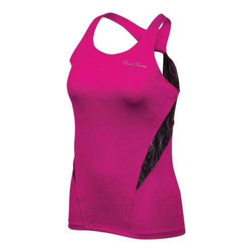 Womens Pearl Izumi Infinity Sport Tank Sport Top Bras - Pink Punch/Pinstripe XL