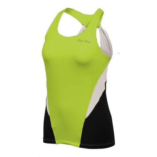 Womens Pearl Izumi Infinity Sport Tank Sport Top Bras - White/Lime L