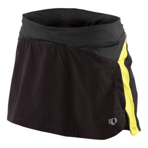 Womens Pearl Izumi Infinity Run Skirt Skort Fitness Skirts - Black/Lime L