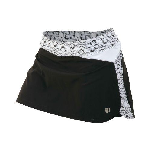 Womens Pearl Izumi Infinity Run Skirt Skort Fitness Skirts - Black/White Hex L