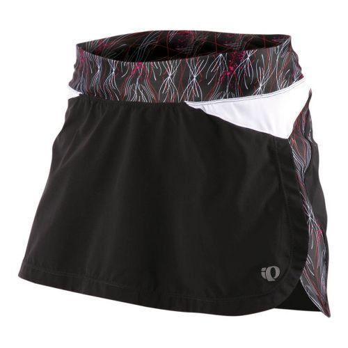 Womens Pearl Izumi Infinity Run Skirt Skort Fitness Skirts - Pink Punch/Pinstripe S