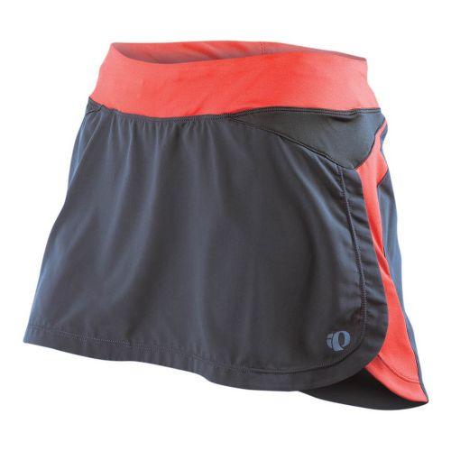 Womens Pearl Izumi Infinity Run Skirt Skort Fitness Skirts - Shadow Grey/Coral S