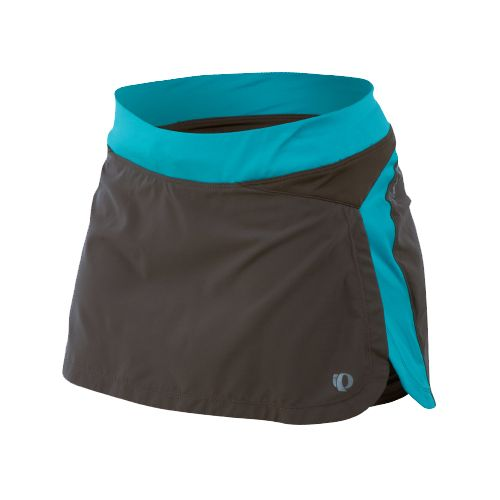 Womens Pearl Izumi Infinity Run Skirt Skort Fitness Skirts - Shadow Grey/Scuba Blue M