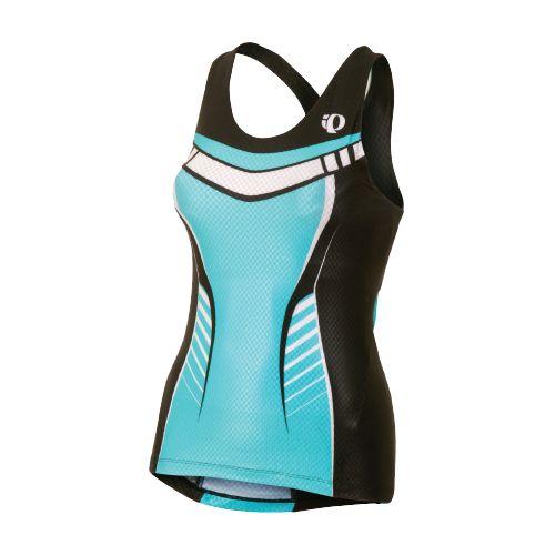 Womens Pearl Izumi Pro In-R-Cool Tri Singlet Sport Top Bras - Scuba Blue L