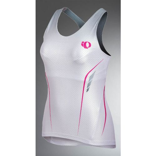 Womens Pearl Izumi Pro In-R-Cool Tri Singlet Sport Top Bras - White L