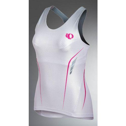 Womens Pearl Izumi Pro In-R-Cool Tri Singlet Sport Top Bras - White XS