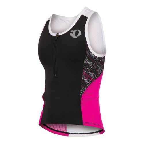 Kids Pearl Izumi Junior Tri Singlet Technical Tops - Pink Punch/Pinstripe M