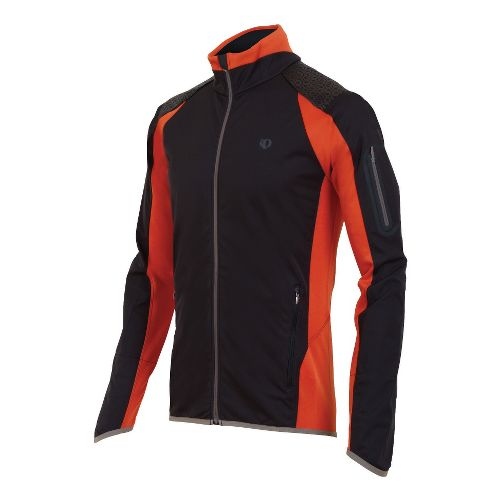 Mens Pearl Izumi Ultra Windblocking Running Jackets - Black/Rust M