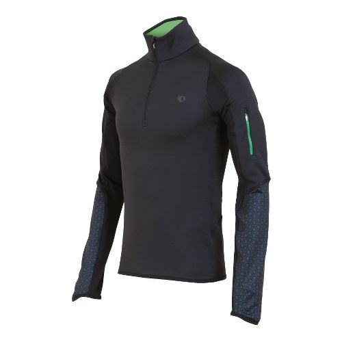 Mens Pearl Izumi Ultra Thermal Top Long Sleeve 1/2 Zip Technical Tops - Black M ...