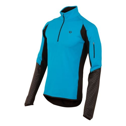 Mens Pearl Izumi Ultra Thermal Top Long Sleeve 1/2 Zip Technical Tops - Electric Blue ...
