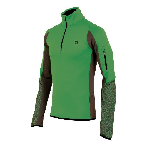 Mens Pearl Izumi Ultra Thermal Top Long Sleeve 1/2 Zip Technical Tops - Fairway/Silt L ...