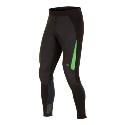 Mens Pearl Izumi Ultra Windblocking Tight Fitted Tights - Black/Fairway S