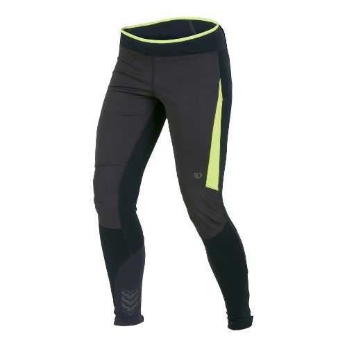 Womens Pearl Izumi Ultra Windblocking Tight Fitted Tights - Blue/Lime S