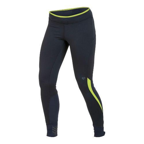 Womens Pearl Izumi Ultra Tight Fitted Tights - Black/Lime S