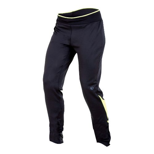 Womens Pearl Izumi Ultra Relaxed Tight Fitted Tights - Black/Lime XS
