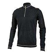 Mens Pearl Izumi Woolie Jersey Long Sleeve 1/2 Zip Technical Tops