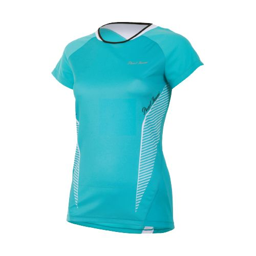 Womens Pearl Izumi Fly In-R-Cool Short Sleeve Technical Tops - Scuba Blue XL