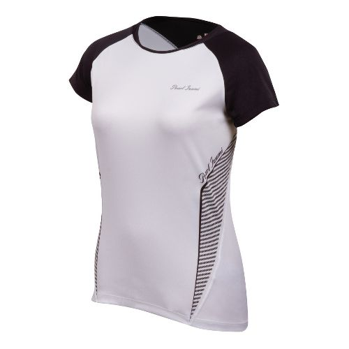 Womens Pearl Izumi Fly In-R-Cool Short Sleeve Technical Tops - White/Black L