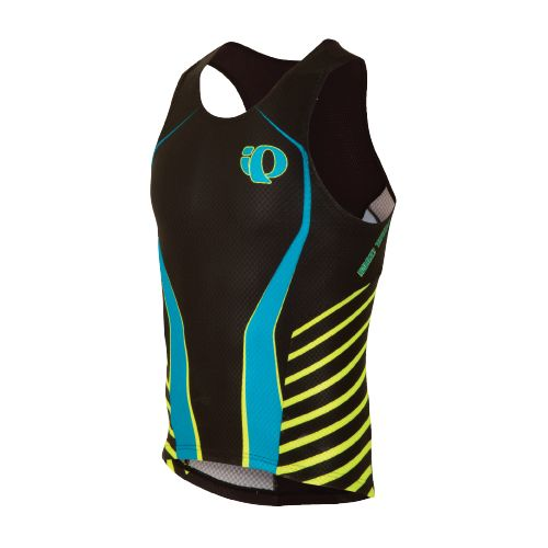 Mens Pearl Izumi P.R.O. In-R-Cool Tri Singlet Technical Tops - Black/Blue L