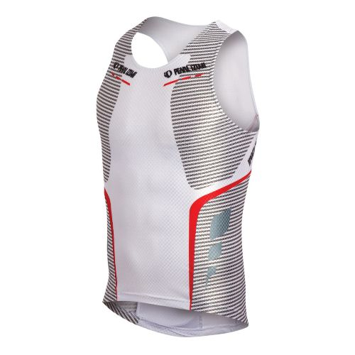 Mens Pearl Izumi P.R.O. In-R-Cool Tri Singlet Technical Tops - White L