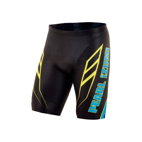 Mens Pearl Izumi P.R.O. In-R-Cool Tri Short Fitted Shorts - Black/Blue XL