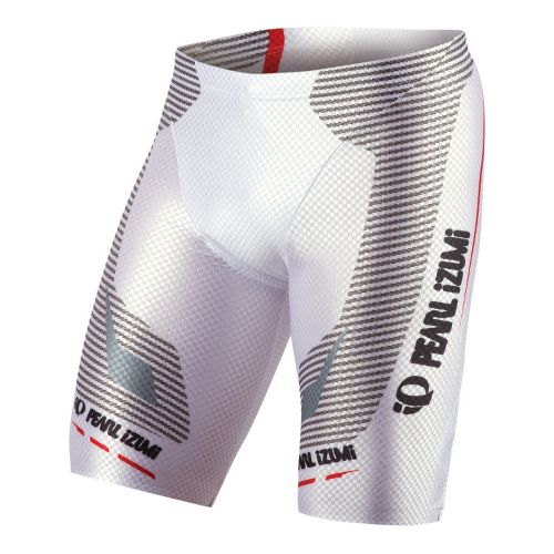 Mens Pearl Izumi P.R.O. In-R-Cool Tri Short Fitted Shorts - White L