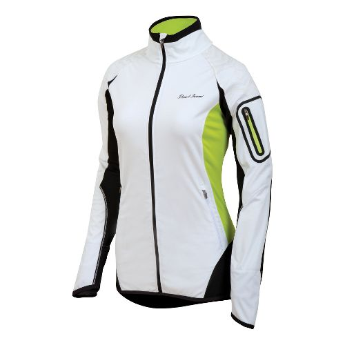 Womens Pearl Izumi Ultra Windblocking Running Jackets - White/Black XL