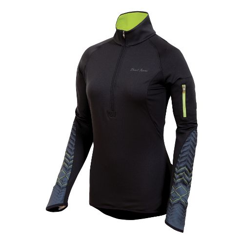 Womens Pearl Izumi Ultra Thermal Top Long Sleeve 1/2 Zip Technical Tops - Black XL ...