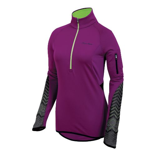 Womens Pearl Izumi Ultra Thermal Top Long Sleeve 1/2 Zip Technical Tops - Orchid S ...