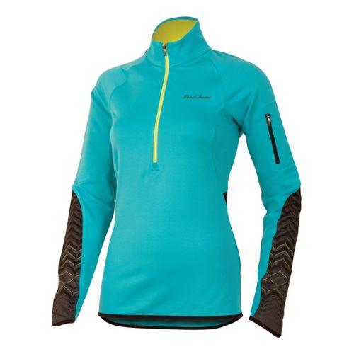 Womens Pearl Izumi Ultra Thermal Top Long Sleeve 1/2 Zip Technical Tops - Scuba Blue ...