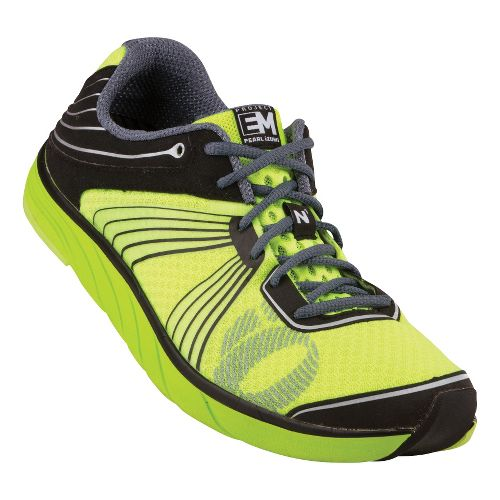 Mens Pearl Izumi EM Road N 1 Running Shoe - Black/Screaming Yellow 10.5