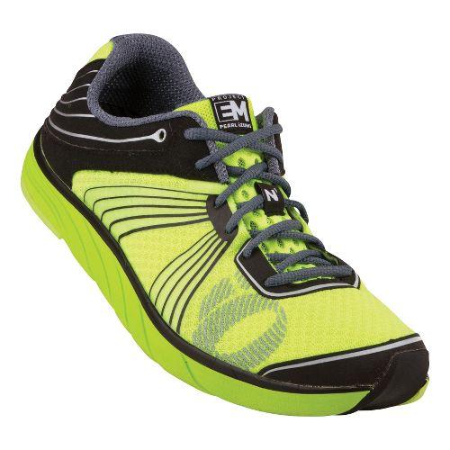 Mens Pearl Izumi EM Road N 1 Running Shoe - Black/Screaming Yellow 12