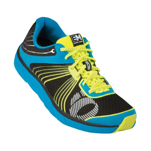 Mens Pearl Izumi EM Road N 1 Running Shoe - Electric Blue/Screaming Yellow 12.5