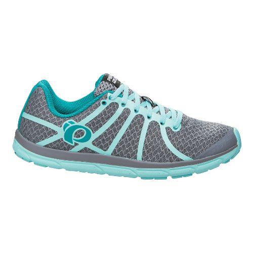 Womens Pearl Izumi EM Road N 1 Running Shoe - Grey/Aruba Blue 7.5