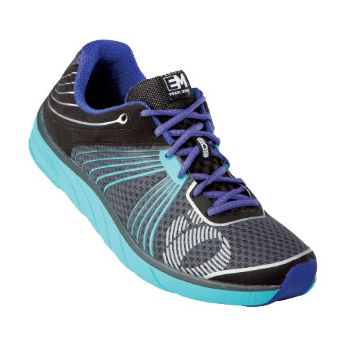 Womens Pearl Izumi EM Road N 1 Running Shoe - Shadow Grey/Scuba Blue 7.5