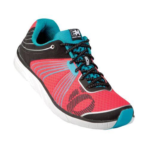 Womens Pearl Izumi EM Road N 1 Running Shoe - Grey/Aruba Blue 9.5