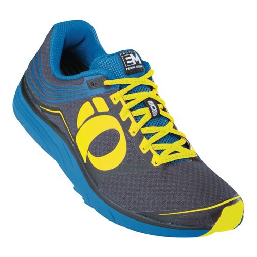 Mens Pearl Izumi EM Road N 2 Running Shoe - Black/Mykonos Blue 10